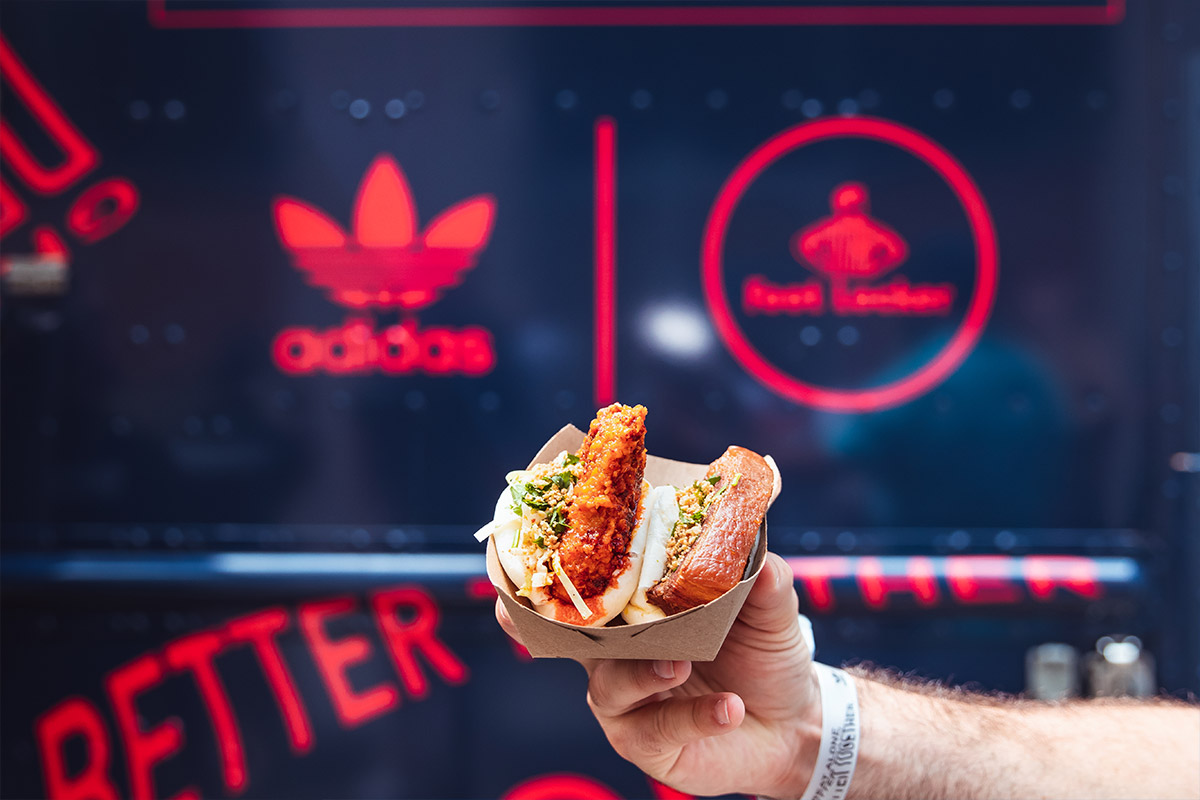 Adidas custom food menu food example