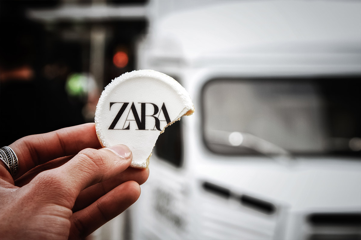 Zara custom food branded cookie example