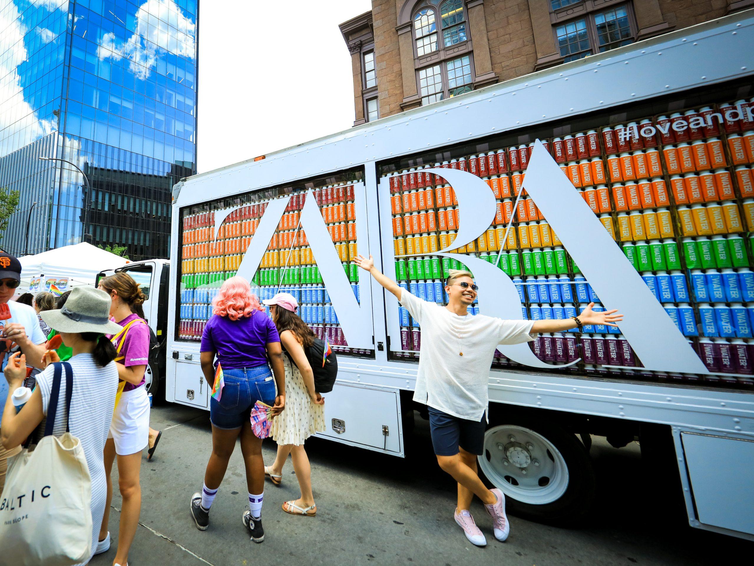 Zara glass showroom truck