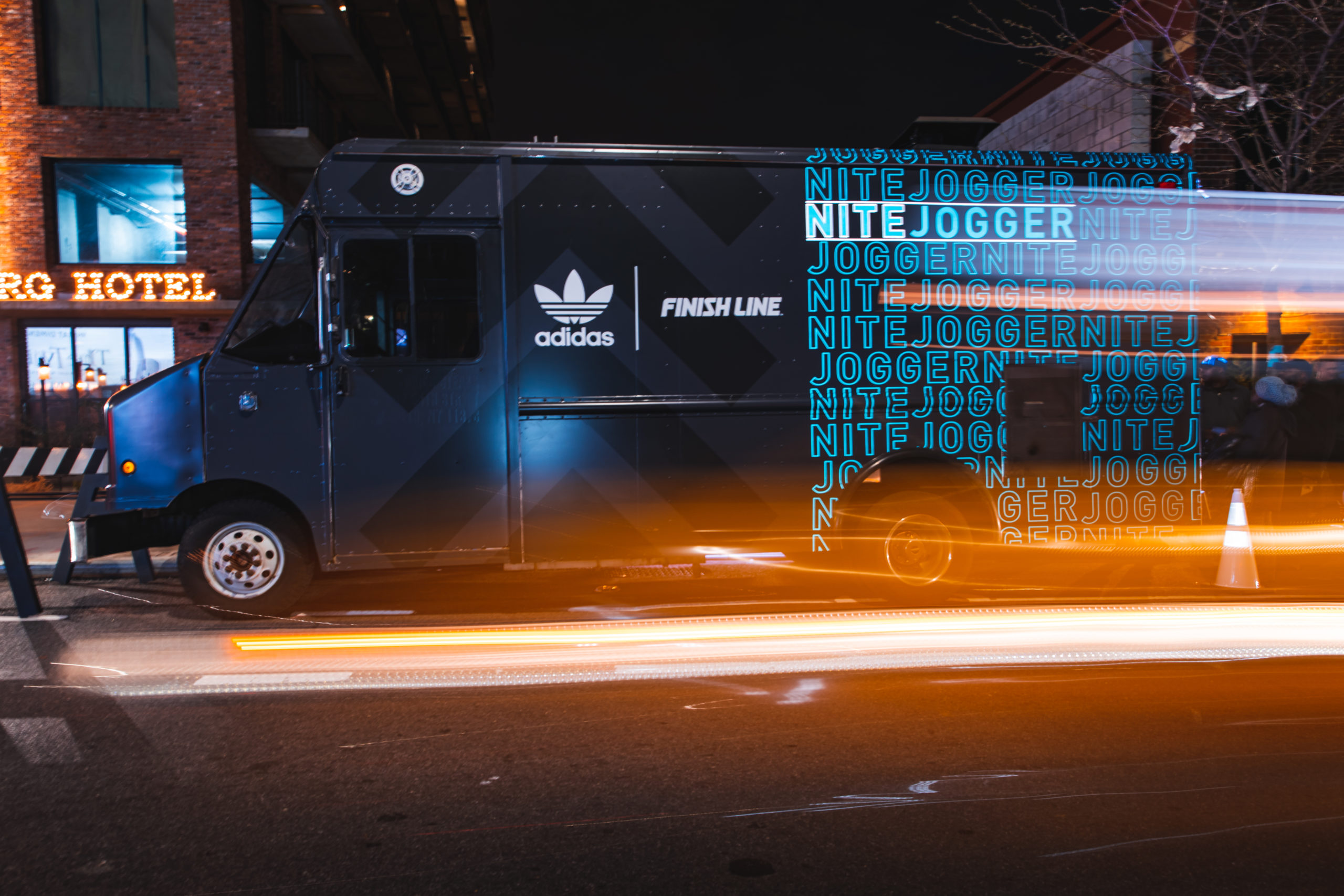 Adidas Nite Jogger Branded Food Truck