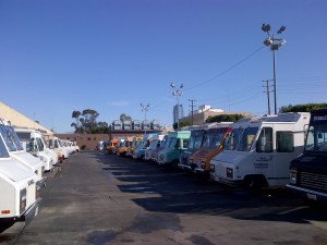 Row of Food Trucks