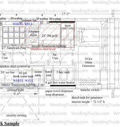 10 foot sample food truck layout [ 1800 x 1087 Pixel ]
