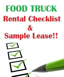 Food Truck Rental Checklist & Sample Lease Agreement