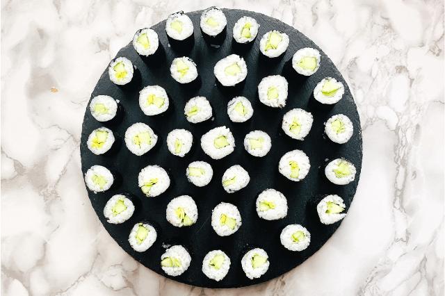 Veganes Sushi mit Gurke & Lauch