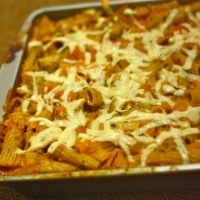 Dorm Cooking: No-Boil Pumpkin Baked Pasta