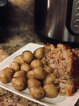 instant pot meatloaf & taters