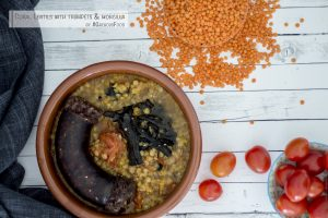 coral-lentils-morcilla-trumpets-gregousfood4