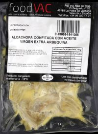 Confited artichoke in arbequina oil foodVAC