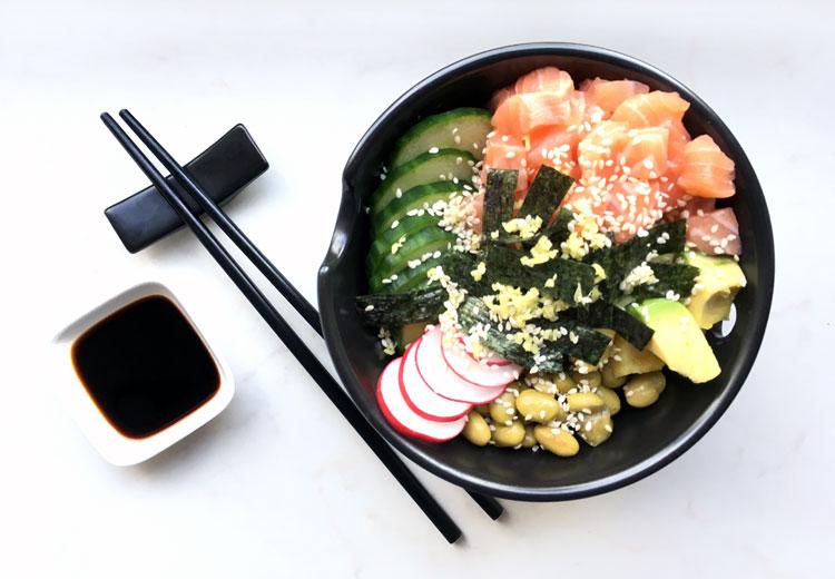 Sushi bowl maken; oftewel lazy sushi
