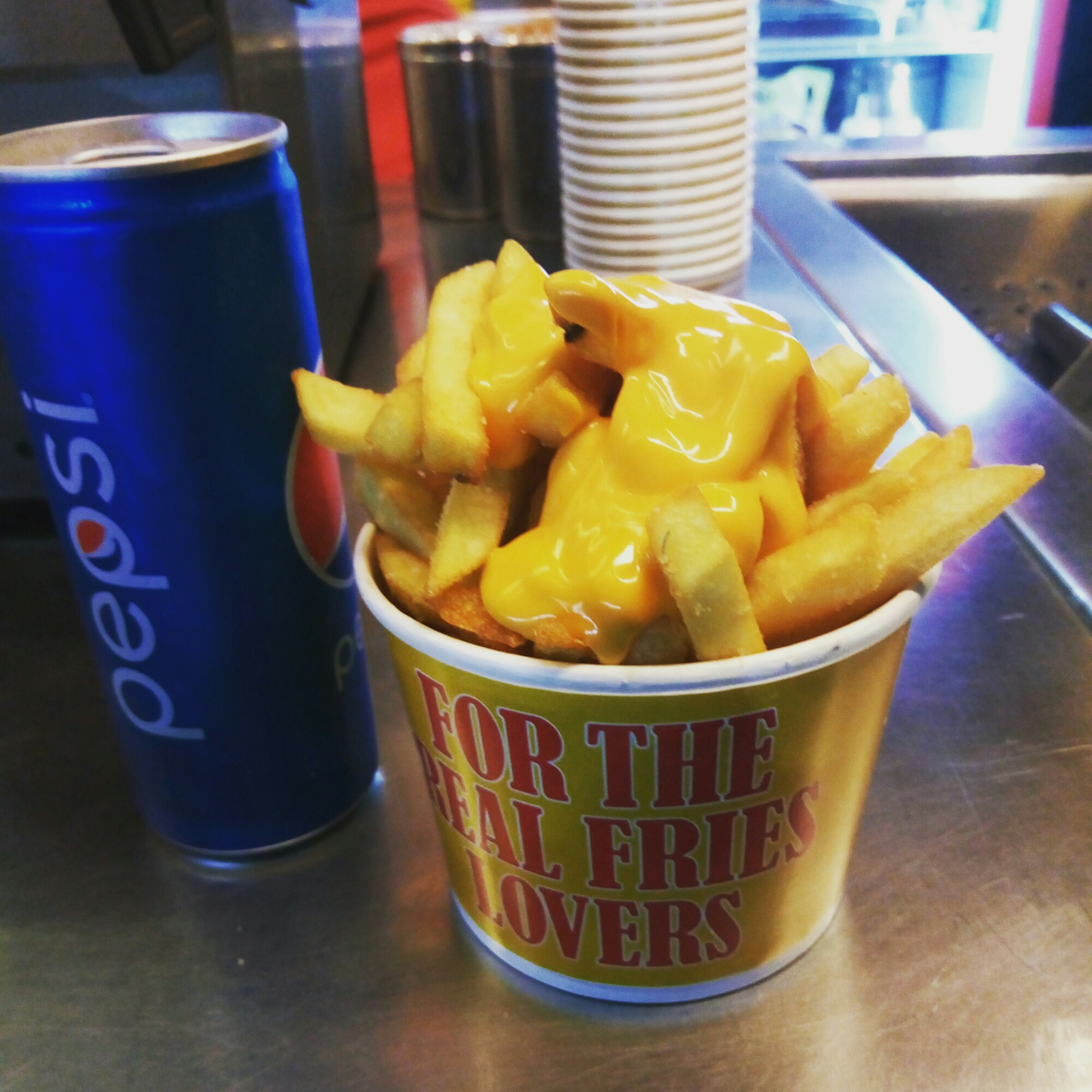 FriesNDips have delicious Cheese Fries