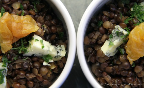 Lentils-Risotto with Blue Cheese