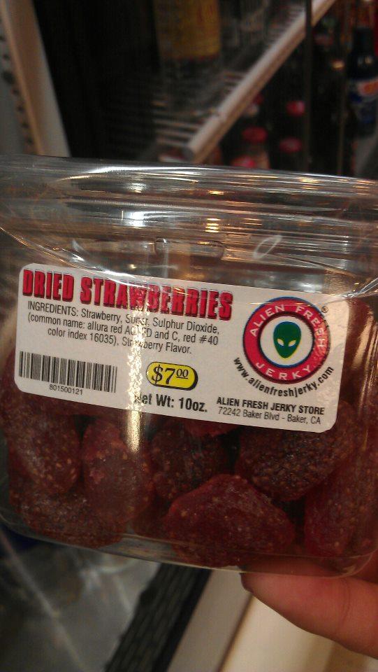 Alien Fresh Jerky Dried Strawberries. Photo: Foodwanderer