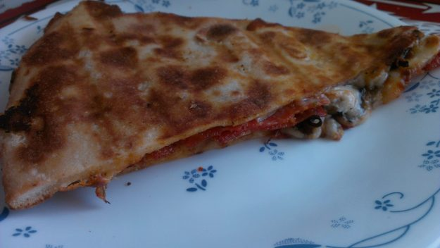 Panini pressed pizza