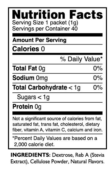 Pure Via Nutrition Facts