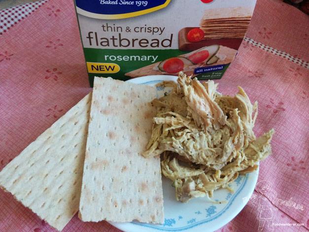 Wasa Flatbread with shredded chicken