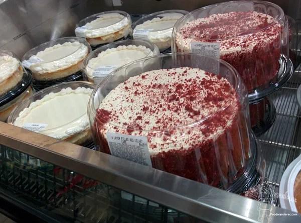 Costco Cheesecake and Costco Red Velvet Cake