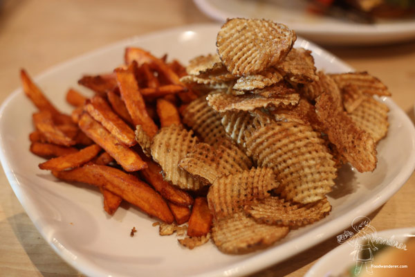 SWEET POTATO FRIES & HOMEMADE POTATO CHIPS