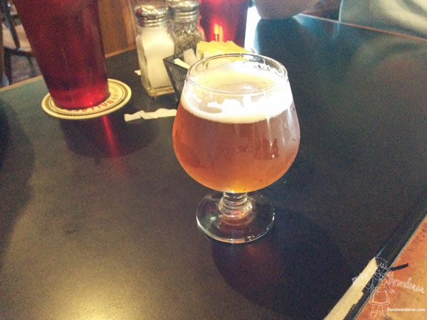 Beer in fancy glass