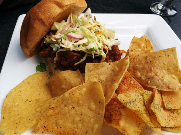 Pulled Chicken & Wild Boar Sandwich 15