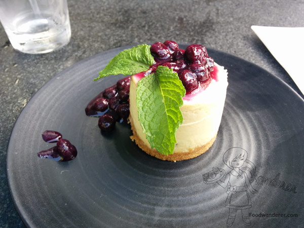 Jalapeno blue cheese cheesecake