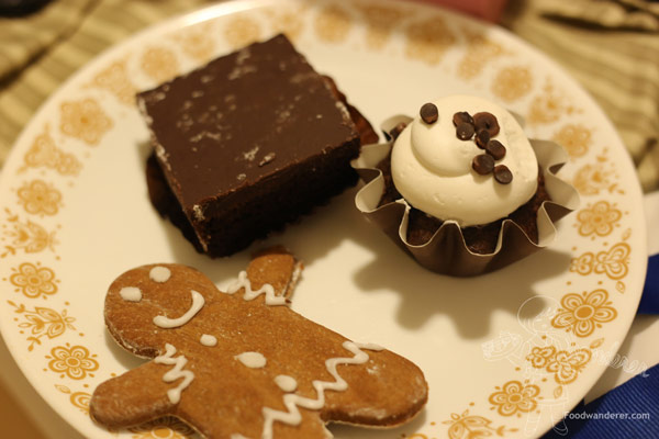 Sensitive sweets ginger bread cookie, brownie, & midnight cupcake