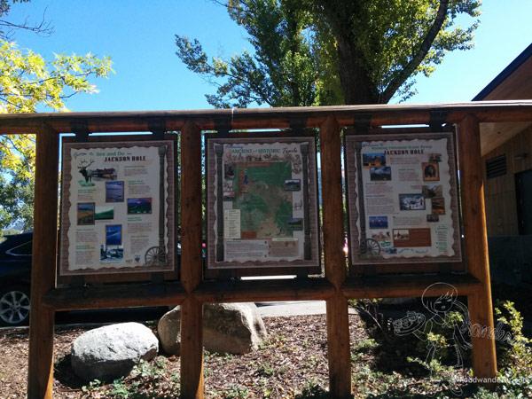 Jackson Hole Info board