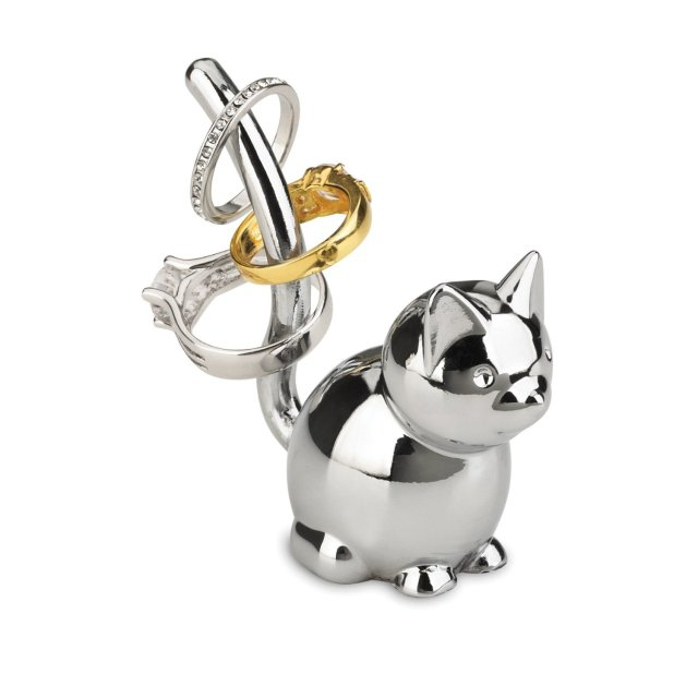 Umbra Zoola Cat Ring Holder, Chrome.