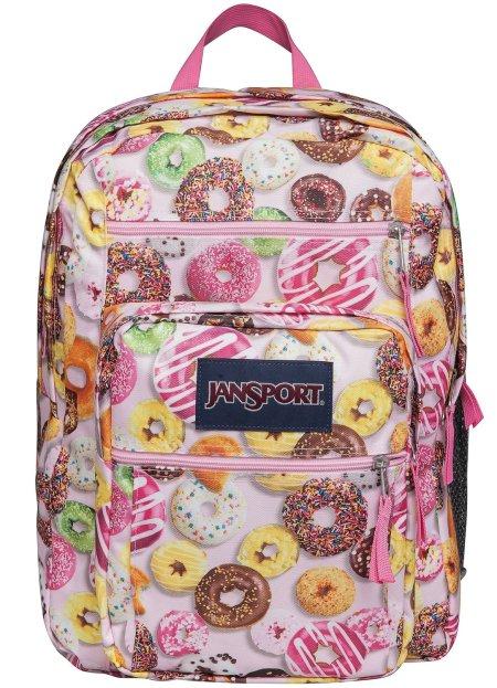 Jansport Big Student Daypack Backpack - MULTI DONUTS