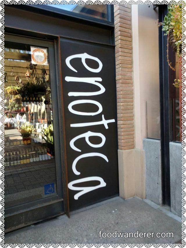 Enoteca Entrance Sign
