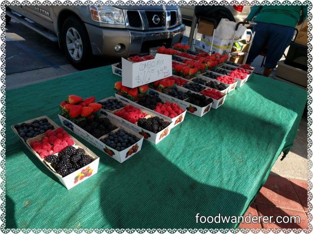 Newport Beach CA blackberries and strawberries