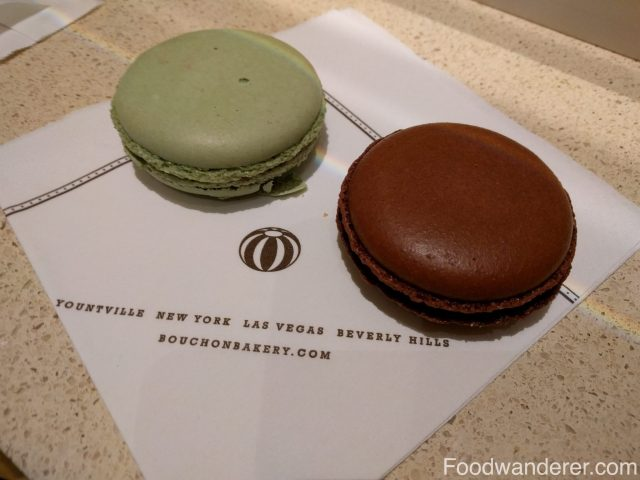 Pistachio and Peanut Butter & Jelly macaron