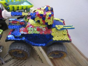 To Sequined Toy Tanks