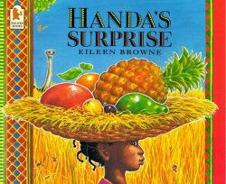 HANDA'S SURPRISE by EILEEN BROWN // This silly counting story is set in Africa and features beautiful, vibrant fruits to drool over.