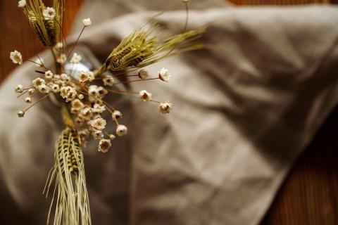 Herbst Dekoration im Restaurant