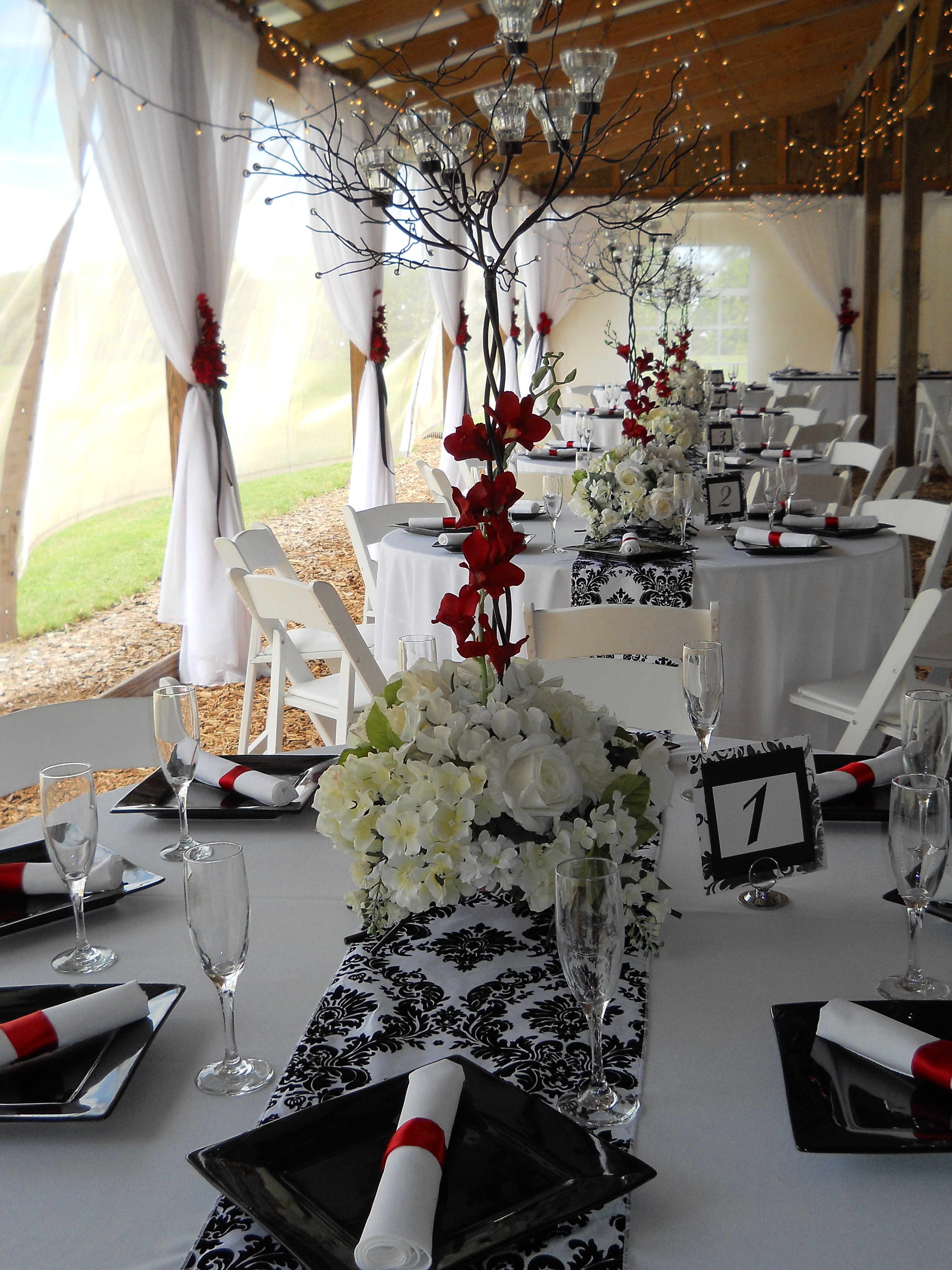 Black White and Red Wedding  Emilees Journey