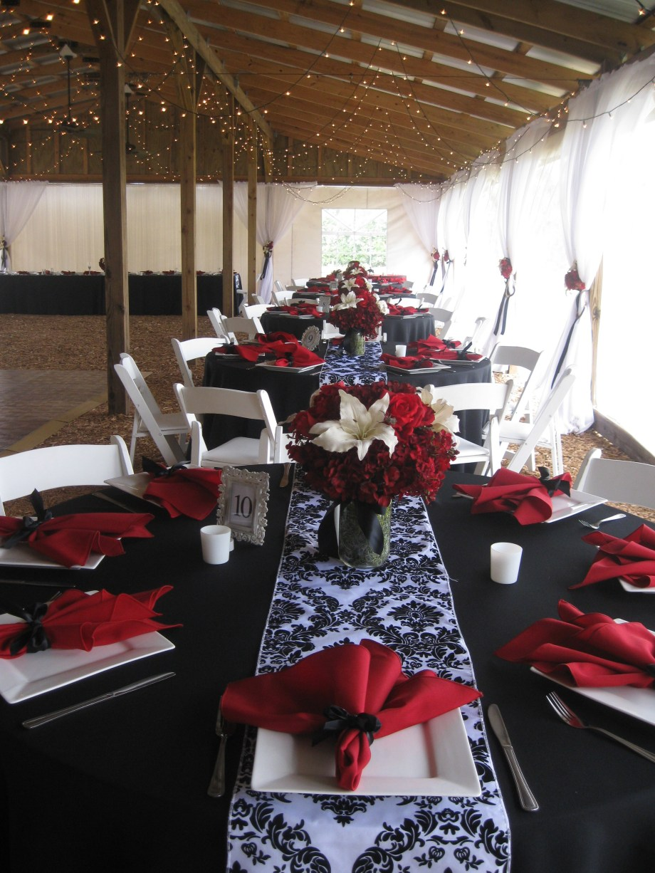 Red White and Black Wedding  Emilees Journey