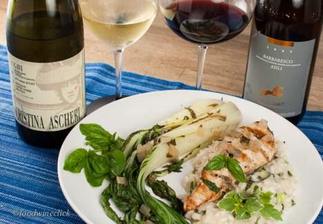 Gavi wine and Barbaresco wine