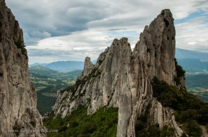 The Dentelles are beautiful from the lowlands nearby. They're spectacular up close!