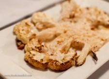 Roasted Cauliflower w/ truffle oil, salt & shredded parmesan, get it while its hot!