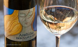Refreshing, flinty and acidic, the Donnafugata Anthilia was a nice match for the blood orange salad.
