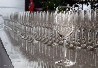 wine glasses at a Bordeaux tasting