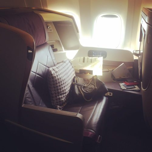 SQ New Business Class Seat