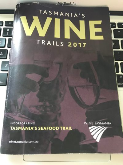 Tasmania's Wine Trails 2017 booklet