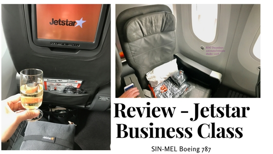 Jetstar Business Class Review SIN-MEL