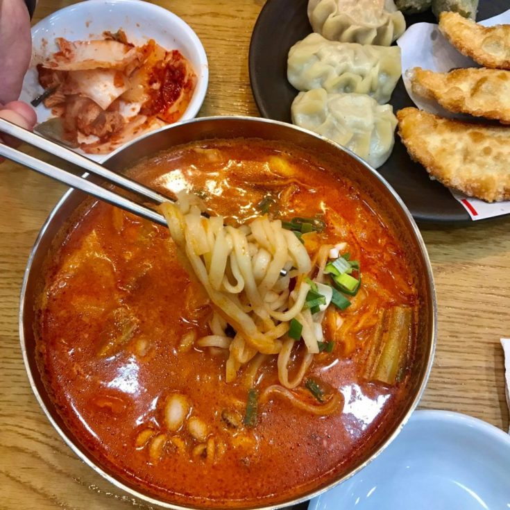 Korea, seoul, food, dumplings, ramen
