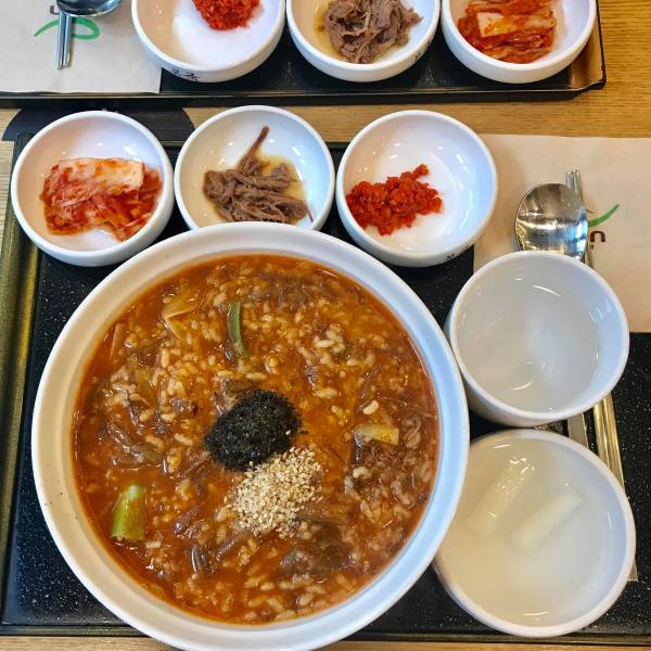 Korean beef porridge in Seoul