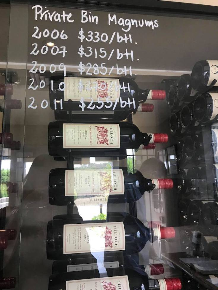 Hunter Valley Tulloch wine magnum bottle price