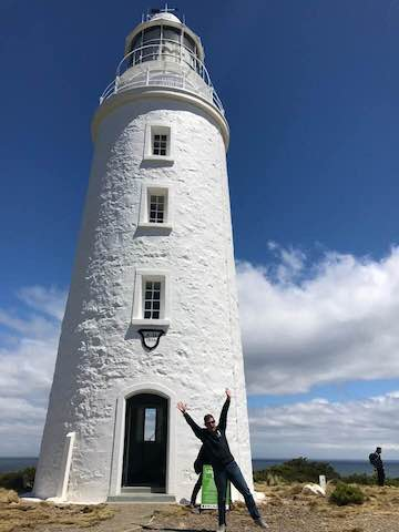 Cape Bruny Lighthouse vs man