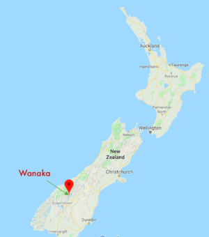 Wanaka Location New Zealand Map