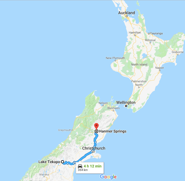 driving from LAke Tekapo to Hanmer Spring - New Zealand Road Trip